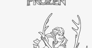 Frozen Coloring Pages Kristoff And Sven Sheet To