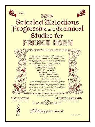 335 Selected Melodious Progressive & Technical Studies - Horn