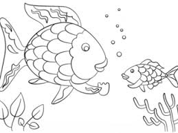 The Rainbow Fish Coloring Page Gives A Precious Scale