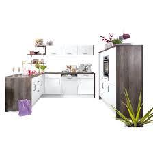 u küche lack weiß hochglanz stammeiche nachbildung 250 x 188 185 cm