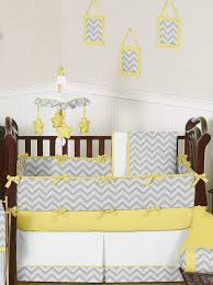 yellow gray chevron baby bedding crib set sweet jojo designs