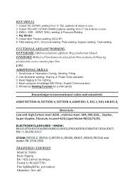 Sample Resume For Welder 2 Welding Examples