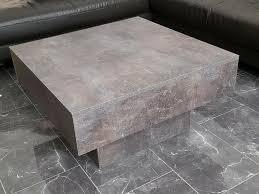 couchtisch tisch holz schwebend quadrat luxus möbel wohnzimmer