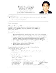 Ojt Resume Sample No Work Experience Also Skills For Aircraft Mechanic