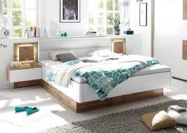 details zu doppelbett nachtkommoden bett ehebett schlafzimmer 180x200 weiß eiche