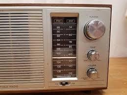 vtg realistic radio shack mta 15 am fm 2 band walnut grain radio
