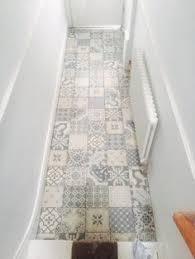 Statement Hallway Floor Vintage & Patterned Tiles from