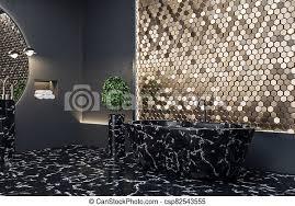 inneneinrichtung schwarz luxus bad badezimmer marmor