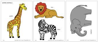 Safari Or African Savanna Animals