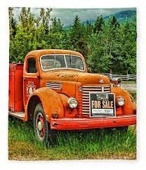 100 Old Fire Truck For Sale Hdr Fleece Blanket For By Randy Harris