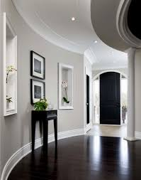 Grey Walls With Dark Hardwood Floors Stunning Gray And Wood Contemporary Types Of