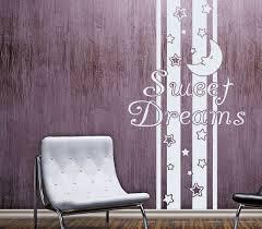wandtattoo banner spruch sweet dreams in 16 farben traum schlafzimmer mond sterne deko streifen wandaufkleber aufkleber 1u411
