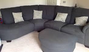 grey corner sofa with foot stall ikea tidafors in ashby de la