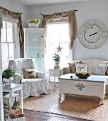 Shabby Chic Furniture Surrounds A Vintage Coffee Table That Looks Like Chest An Antique