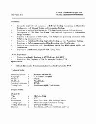 Sample Resume For 3 Years Experience In Selenium Testing Professional