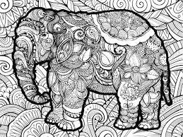 Elephant Coloring Puzzle