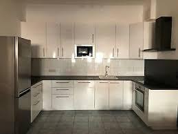 küche weiss hochglanz neuwertig und modern ikea eur 2 470