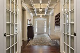 Moderately Sized One Story Foyer In White Designed A Hallway Layout Leading To Various