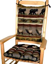 Woodlands Northwoods Rocking Chair Cushion Set - Bear ... Floral Chair Covers Ebay Animal Print And Antique Ornate Carved Wooden Wingback W Monkey Elephant Upholstered Cushions Woodlands Peters Cabin Ding Pads Latex Foam Fill 28 Great Of Phomenal Prints Reversible Stripe Cushion Rocker Rocking Oooh Baby Harriet Bee Starla Whale Tales Kids Wayfair Ihambing Ang Pinakabagong Recliner Mat 1930s Vintage Saddle Levo In Beech Wood With Mmout Cloud Delta Children Emma Nursery Graphite
