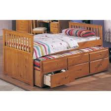 wildon home captain bed with trundle and storage drawers size twin
