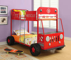 100 Kids Fire Truck Bed Room Fascinating Bunk For Lovely Room
