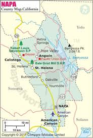 Napa County Map Of California