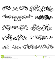 Calligraphic Borders Anctor D Page Decoration Stock Images
