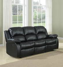 amazon com bonded leather double recliner sofa kitchen dining