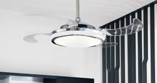 Retractable Blade Ceiling Fan by A Ceiling Fan With Retractable Blades Looks Cool And Keeps You Cool