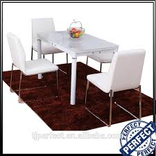 Restaurant Rectangle White High Gloss Philippine Dining Table Set Buy Setphilippine