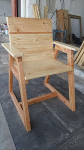Pallet Adirondack Chair Plans by Pallet Chair With Trapezoid Legs 99 Pallets