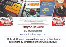 BUYER BEWARE — SDTruckSprings - SD Truck Springs Deals With Unhappy ... 2010 Freightliner M2 106 Front Leaf Spring For Sale Sioux Falls Ford Explorer Sport Questions Springs 2001 Sport Gck15mr Rear Axle Ses Suspension Upgrade Timbren Industries 2000 Peterbilt 378 Sd 2016 Ultimate Lift Kit Buying Guide Truck Springs Sumosprings What They Do And How Work Provided By Welcome To Autocar Home Trucks Rpg Offroad Reviews Complaints Customer Service Page 2 Supersprings Helper Review Comparison Local Ronkoma New York Facebook Sdtrucksprings On E150 Review Enthusiasts Forums