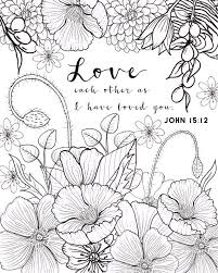 John Coloring Page Love By FourthAvePenandInk