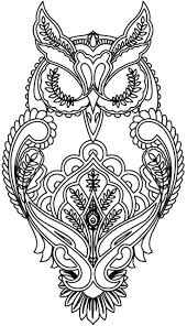 Coloring Pages Adults Pinterest Mandala For Pdf Difficult Owl Page Zentangle Full Size