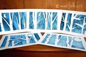 Winter Birch Trees Wee Folk Art Crafts For Kindergarten Craft Toddlers Age 2 3 Kid Ideas Fun