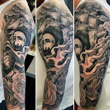 Smoke Shading Tattoos For Guys