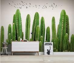großhandel moderne wohnzimmer tapeten pflanze handgemalte kaktus tv sofa hintergrund wandmalerei catherine198809100 14 15 auf de dhgate