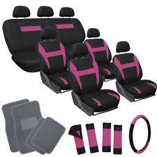 Betty Boop Seat Covers And Floor Mats by Pink Car Seat Cover Set Ebay