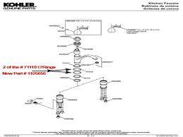 Kohler Fairfax Kitchen Faucet Diagram by Kitchen Kohler Fairfax Kitchen Faucet Parts Kohler Kitchen
