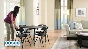 Cosco Folding Chairs And Table by Cosco Vinyl Table Without Introyoutube Youtube