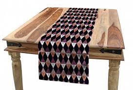abakuhaus tischläufer esszimmer küche rechteckiger dekorativer tischläufer ethnisch boho argyle gekritzeltes retro kaufen otto