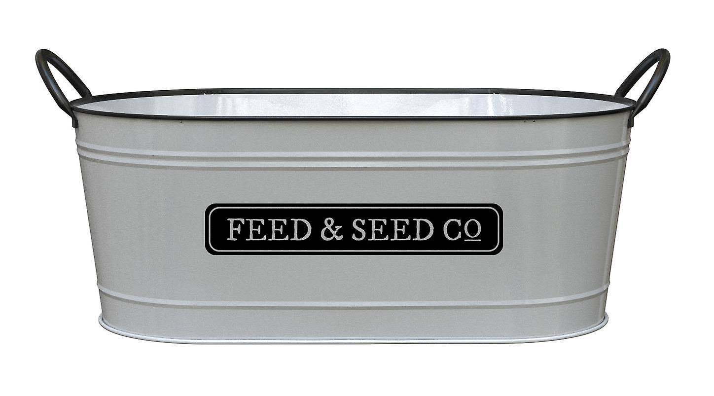 "Panacea 16"" Milkhouse Feed & Seed Oval Planter"
