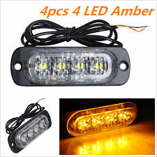 4x Car Truck 12w 4 LED Strobe Light Flash Emergency Hazard Warning ... Commercial Vehicle Products Response Lighting 033 72 Smd Car Truck Roof Led Strobe Light Flash Signal Emergency Mini Lights Suppliers And Red 54 Led Hazard Police Grill 47 88 Light Bar Emergency Beacon Warn Tow Truck Plow Response 24 For Trucks Jeep Suv Cars 12v Universal Amber 40w Low Profile Bar 4 Magnetic Mount Feet 120 4led White Waterproof Beacon Caution Factoryinstalled Warning Will Be Available On Wireless No Damage Vehicletruck Safety Lamphus Sorblast 4w