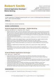 Android Application Developer Resume Samples