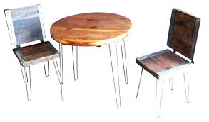 Rustic Furniture For Less Restaurant Reclaimed Round Table With 2 Industrial
