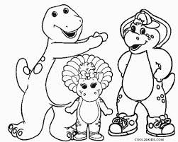 Awesome Design Ideas Barney Coloring Pages Free Printable For Kids
