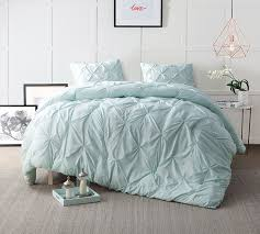 Hint of Mint Pin Tuck King forter Oversized King XL Bedding