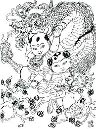 Dragon Tales Coloring Pages Adult China Page Dance