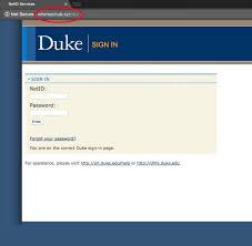 phishing attack it desk duke university security announcement