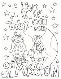 Fresh Idea Lds Missionary Coloring Page Work